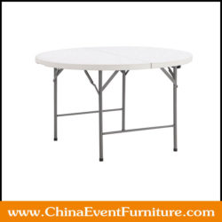 "48"" Round Plastic Fold In Half Table"
