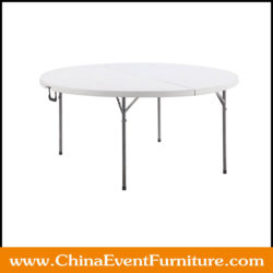 round fold in half table