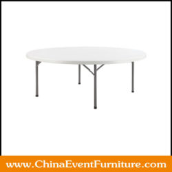 72 round folding table