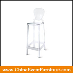 ghost stools with back