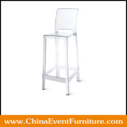 acrylic ghost bar stool