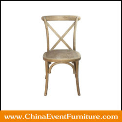 wooden cross back chairs