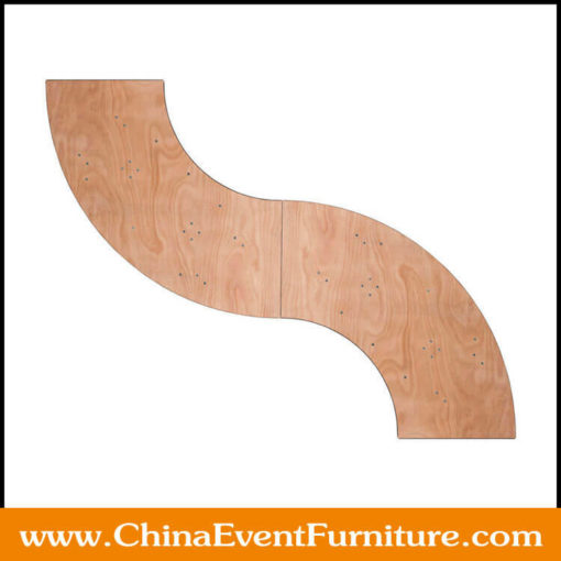 wood folding banquet table