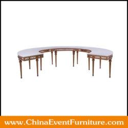 half moon round wedding tables