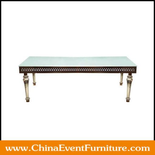 rectangular wedding table