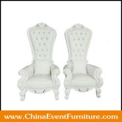 High Back White Wedding Sofa